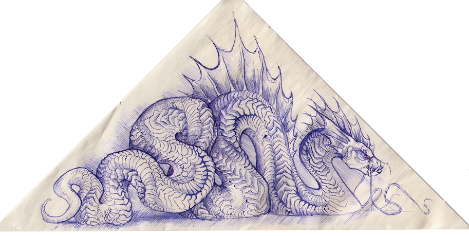 Ballpoint drawing art. Doodle i made on