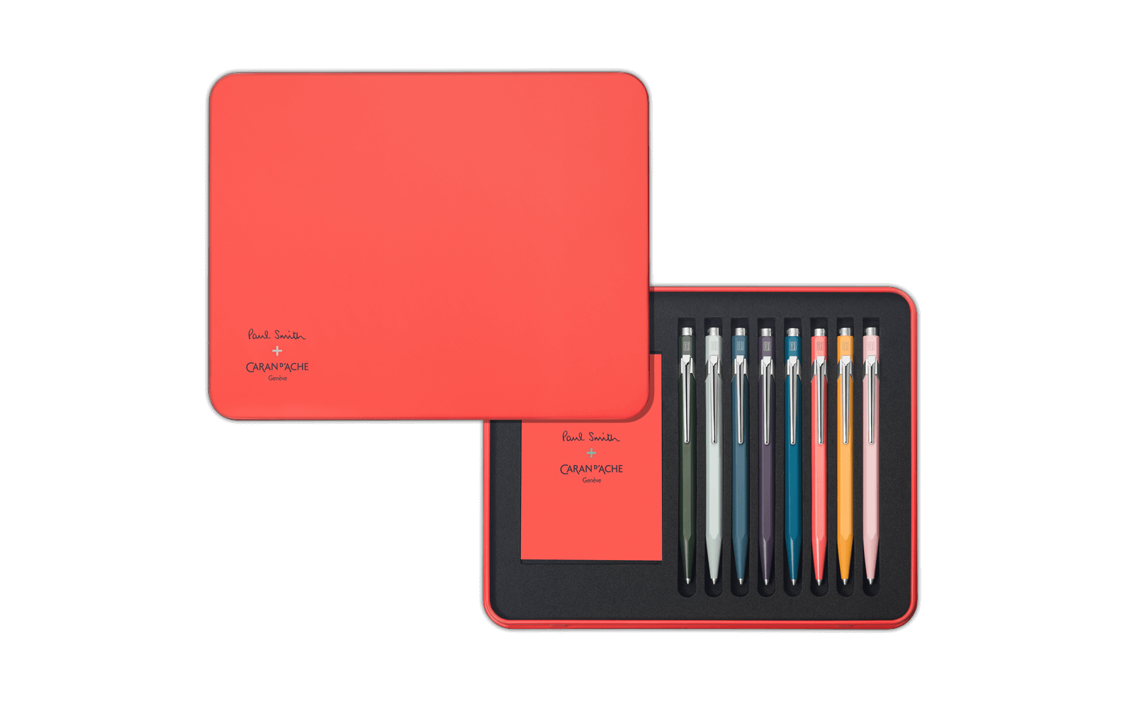 Ballpoint drawing red. Set paul smith edition