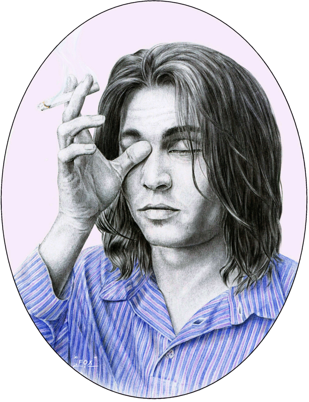Ballpoint drawing face. Johnny depp by l