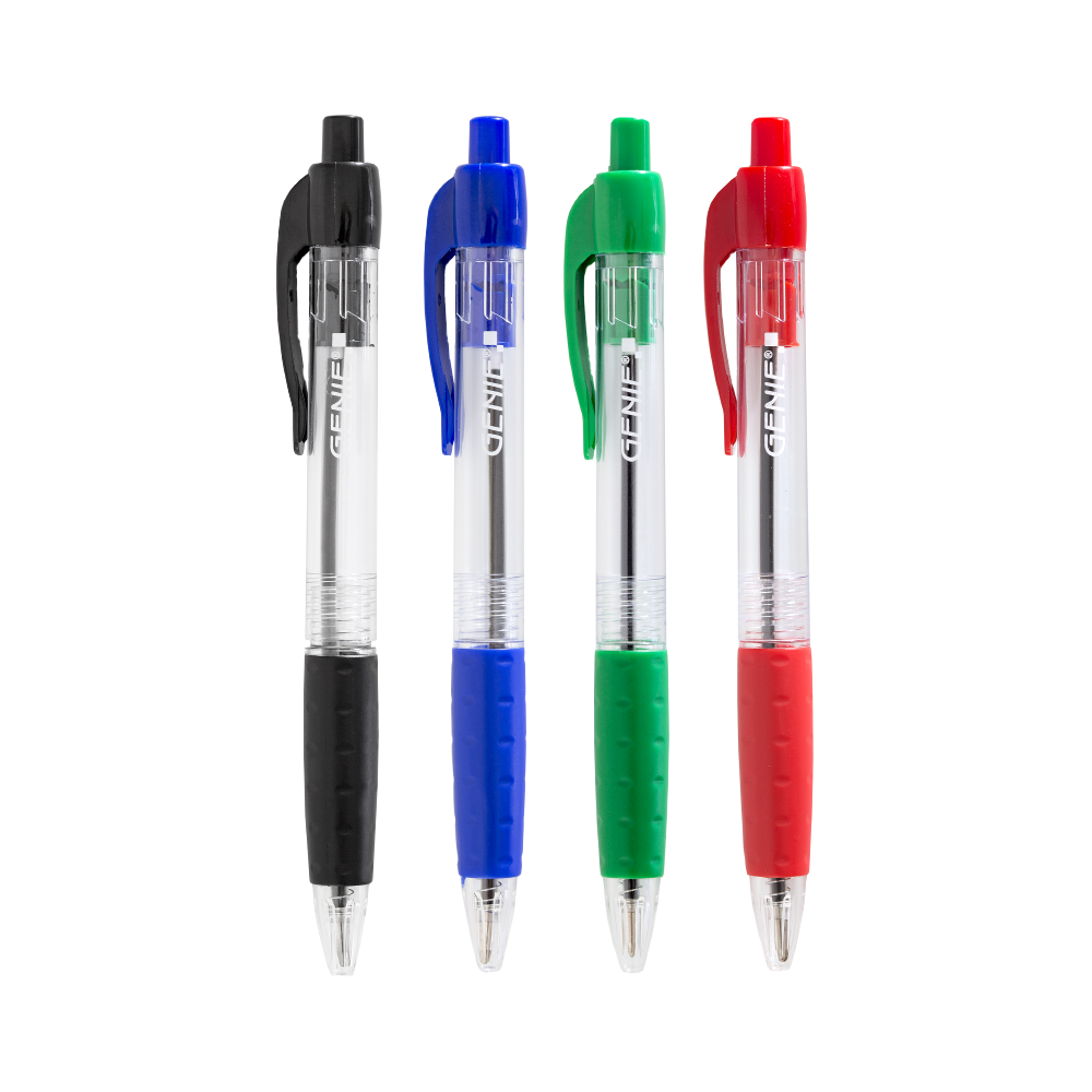 Ballpoint drawing red. Pen sorted pack of