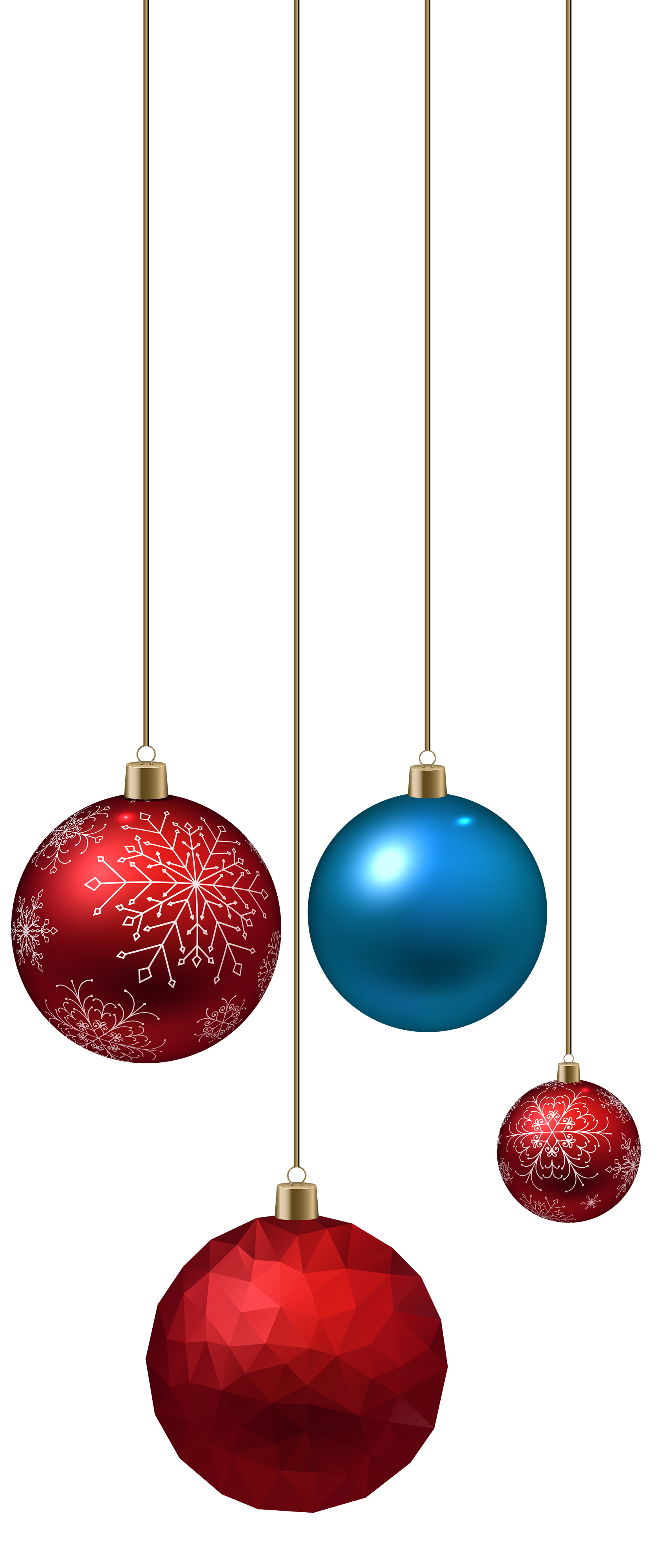 transparent hanging christmas ornaments png