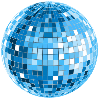 Fiesta png. Disco ball from under
