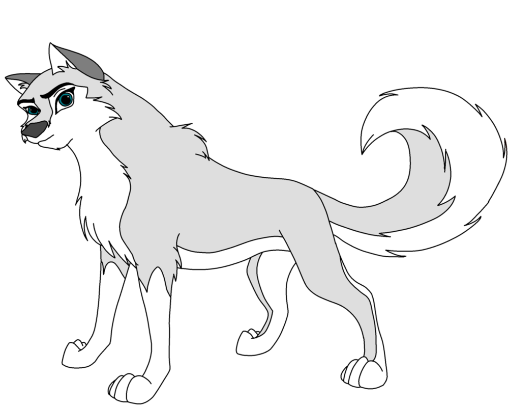 Balto drawing cartoon. Lineart female for
