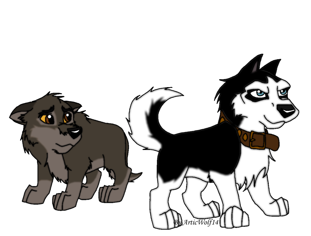 Balto drawing spirit. And steele as pups