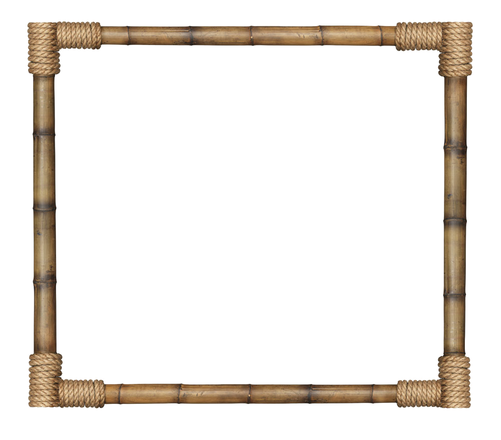Bamboo border png. Picture frame transprent free