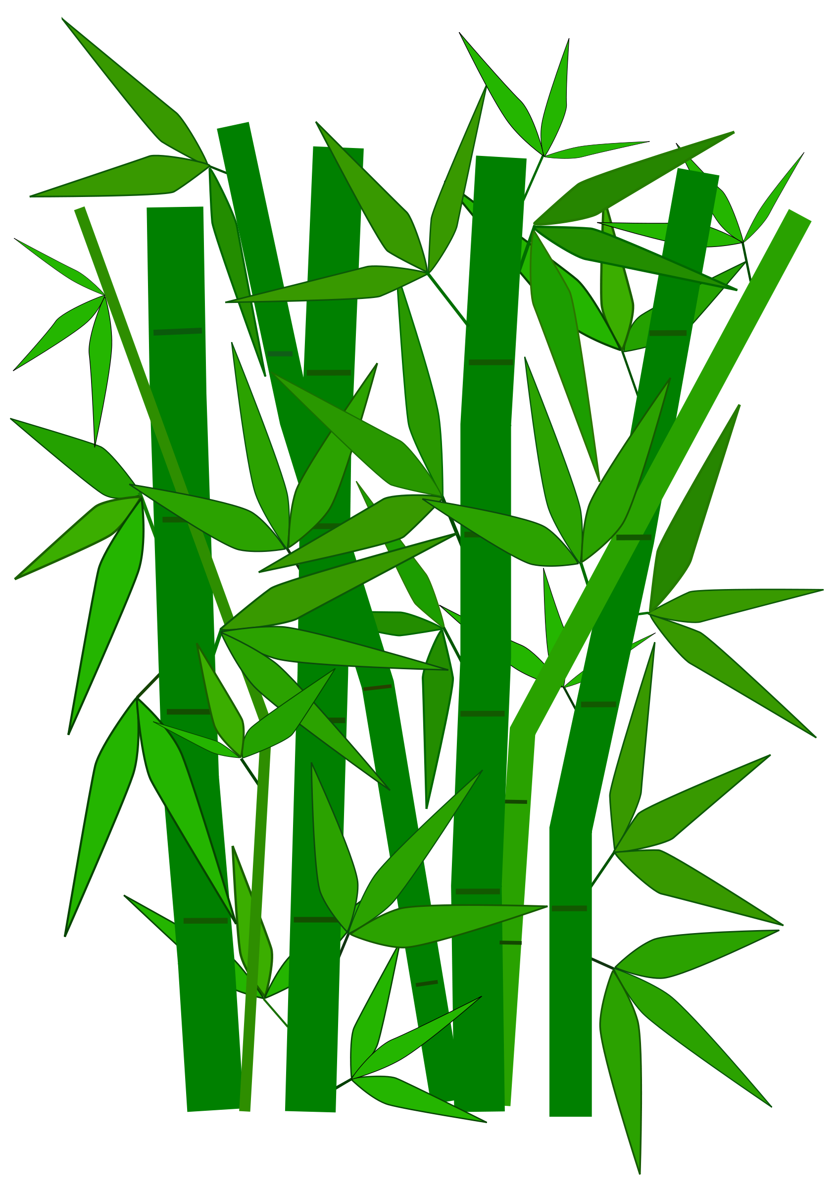 Bamboo clipart scroll. Leaves