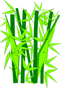 Bamboo clipart bamboo design. Green clip art at
