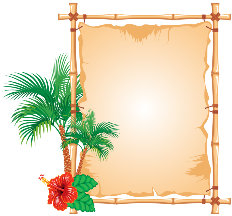 Bamboo clipart nature border design. Encapsulated postscript picture frames