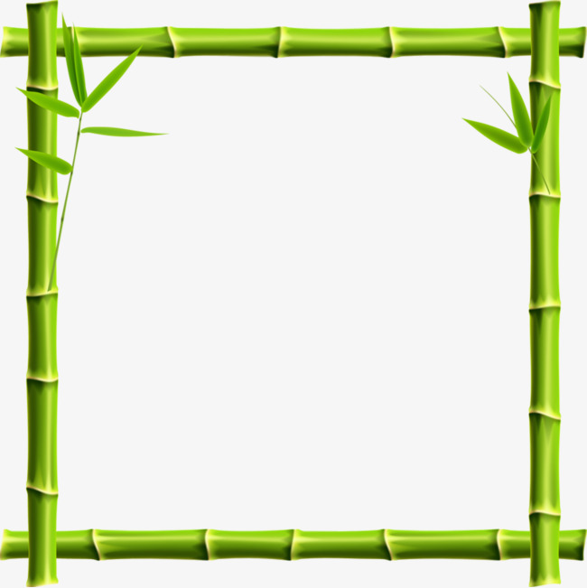 Bamboo clipart nature border design. Green frame png image
