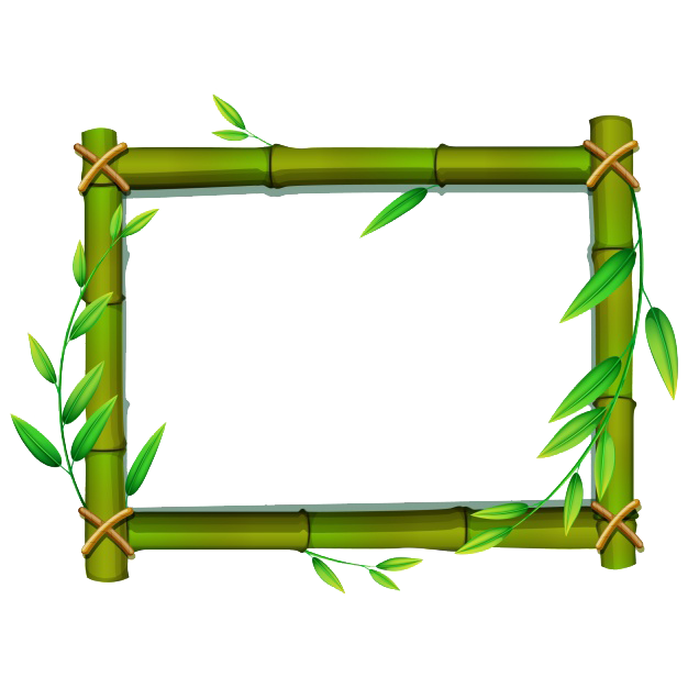 Bamboo clipart nature border design. Stick png hd vector