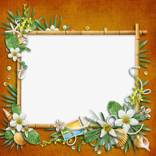 Bamboo clipart nature border design. Decorative plants frame png