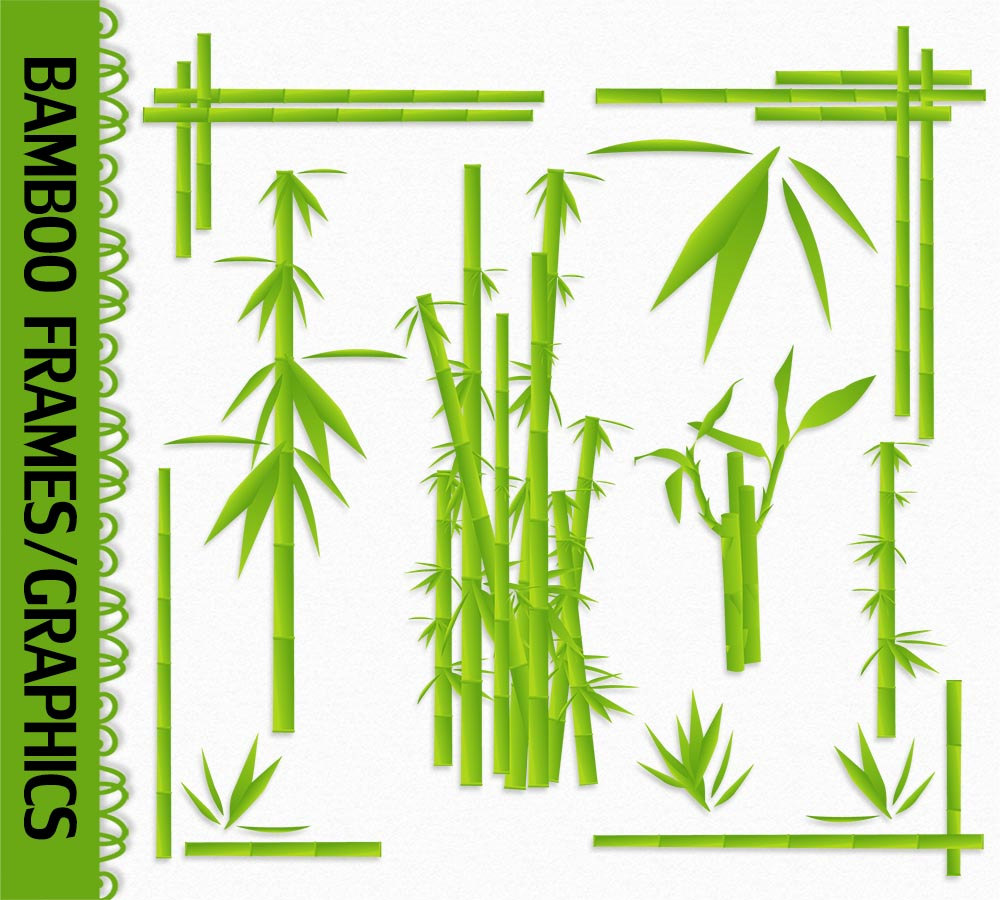 Bamboo clipart scroll. Nice ideas frame with