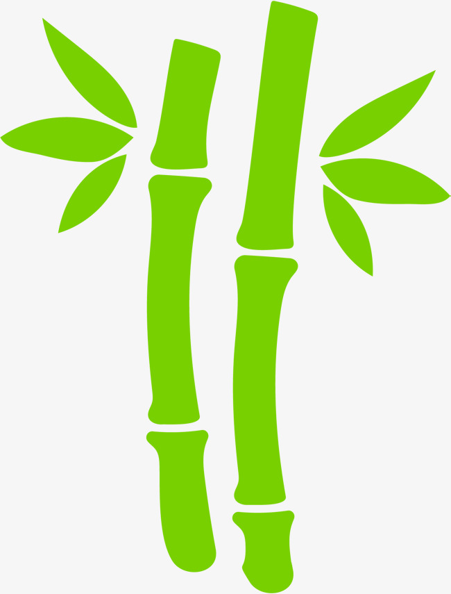 Hand painted green leaves. Bamboo clipart scroll picture freeuse stock