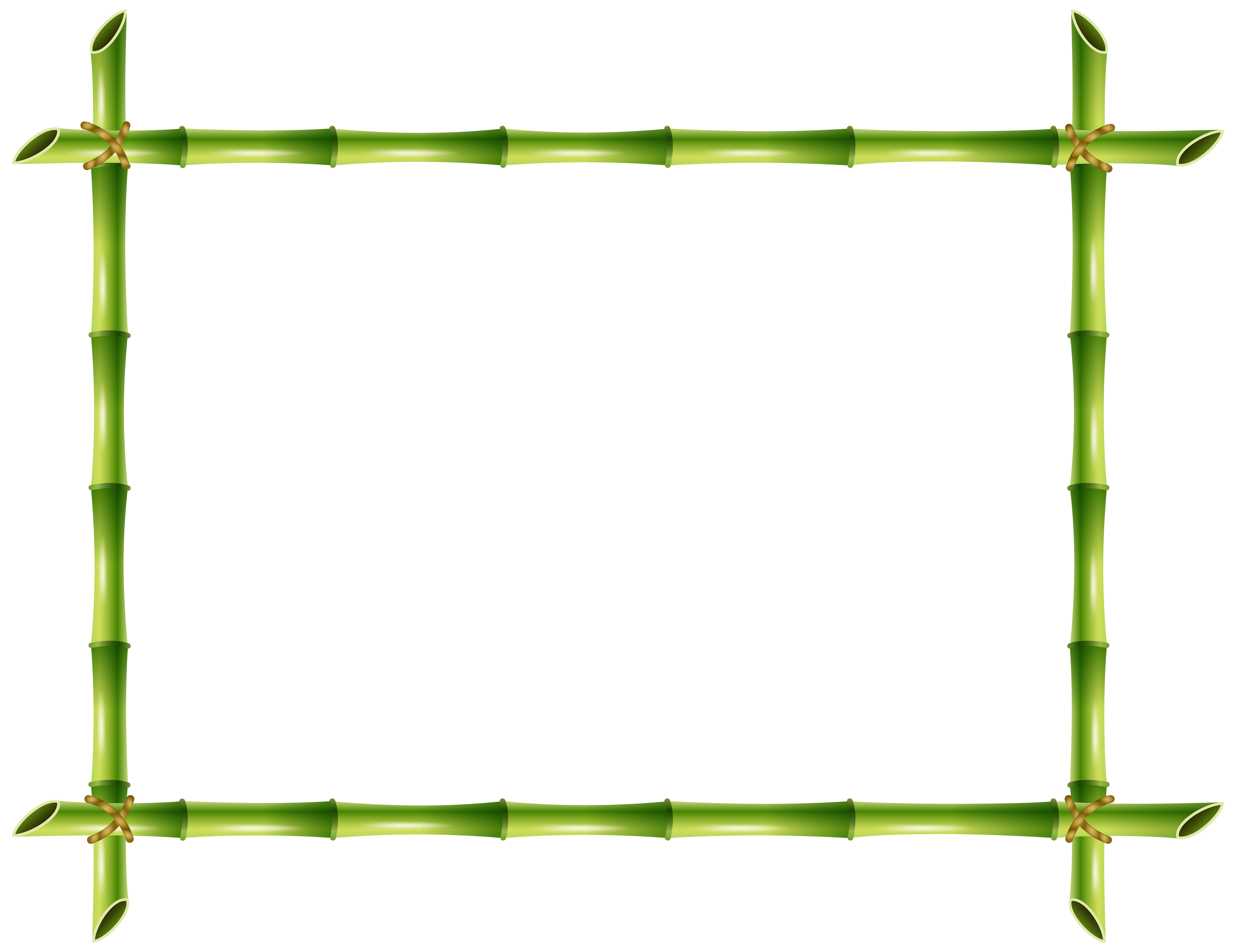 Bamboo clipart transparent background. Frame png clip art