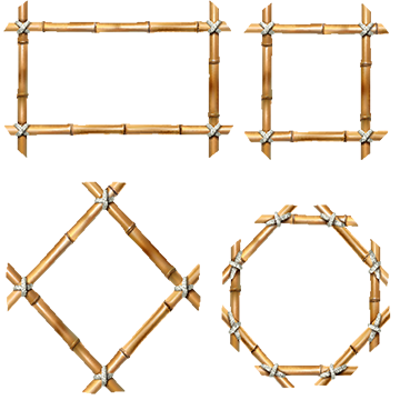 Bamboo clipart wooden frame. Png images vectors and