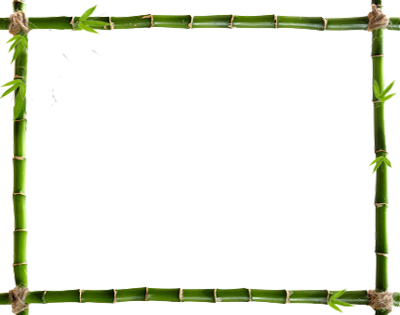 Bamboo frame png. The hut
