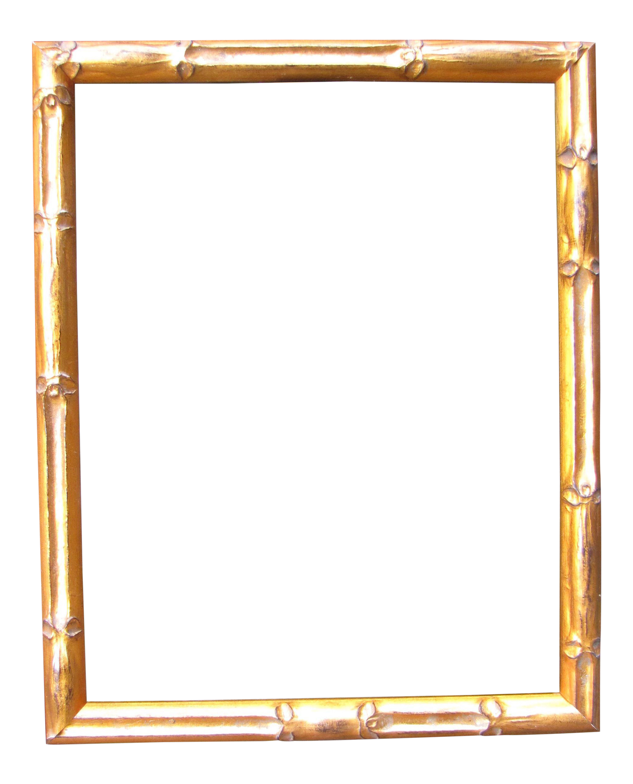 Bamboo frame png. Gold picture