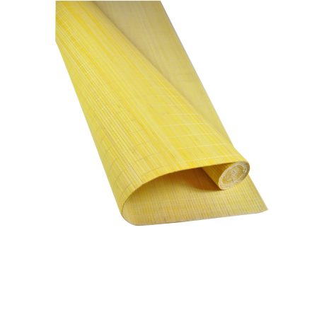 Bamboo mat png. Mm yellow color glued