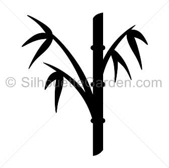 Bamboo silhouette png.