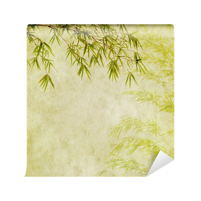 Bamboo texture png. On old grunge paper