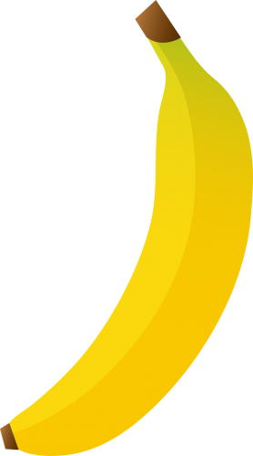 Banana five isolated stock. Banan clip claw graphic transparent