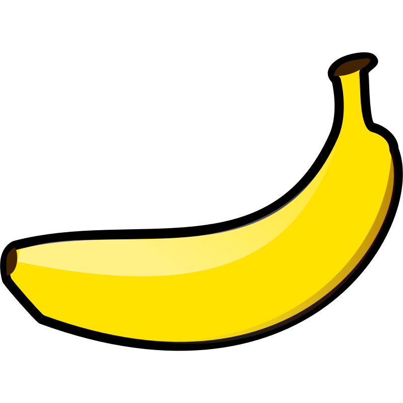 Huge banana. Free picture of a