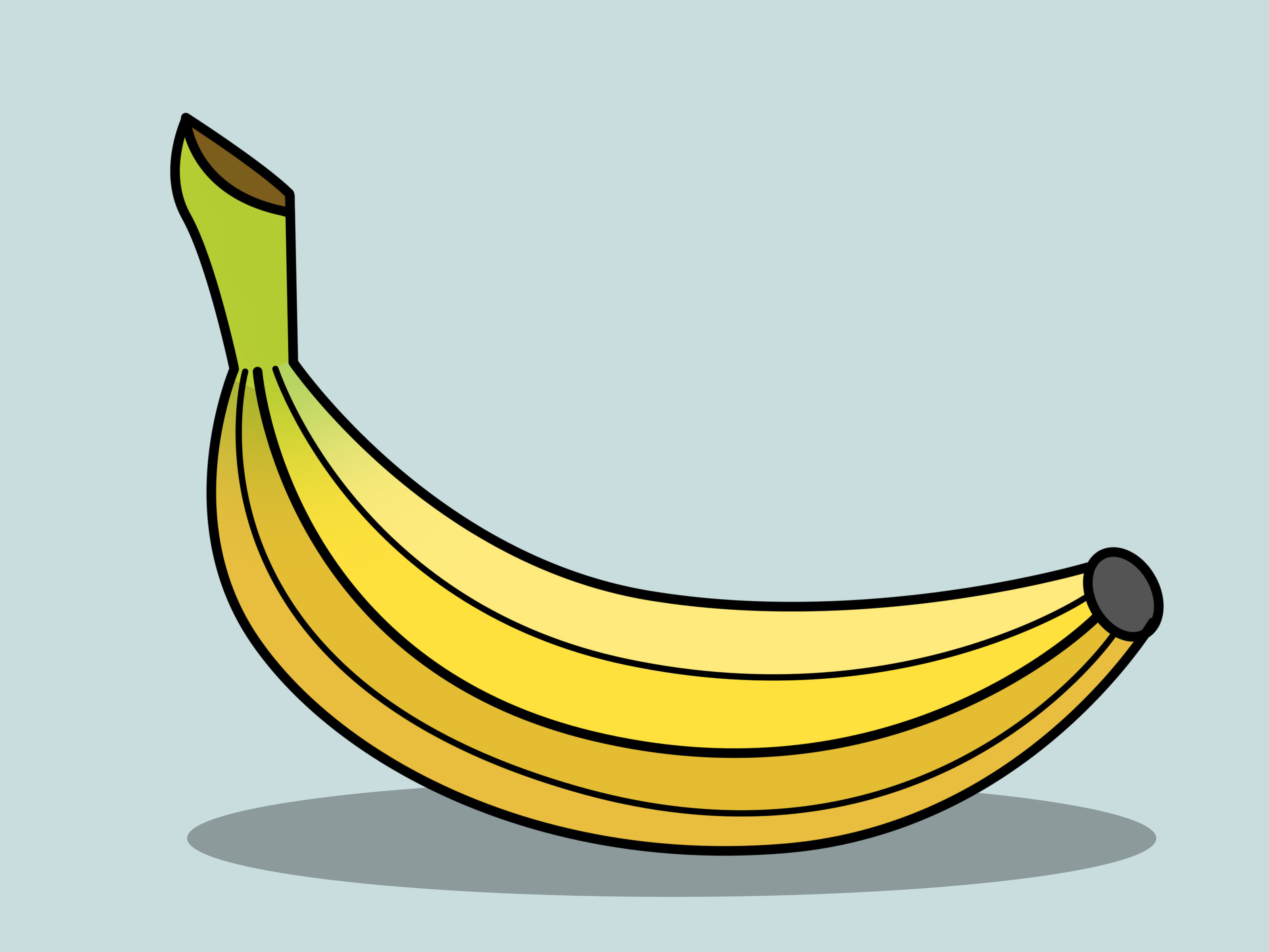 Banana clipart banana drawing. For kids sketch picture