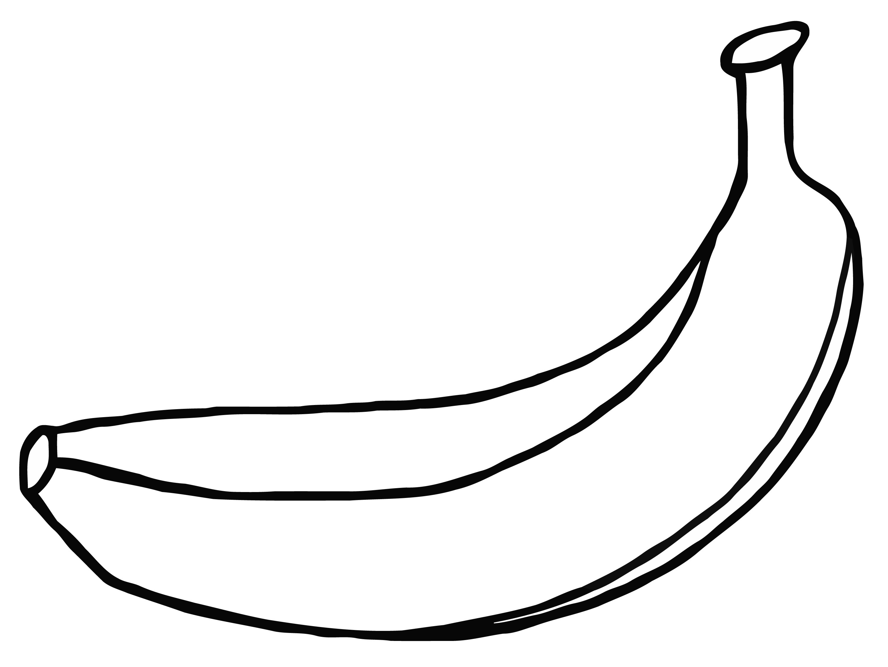 Outline at getdrawings com. Banana clipart banana drawing picture transparent download