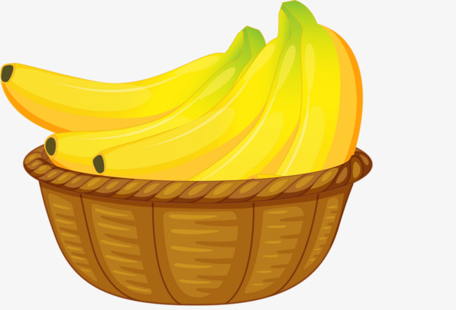 Banana clipart basket. Brown png image and
