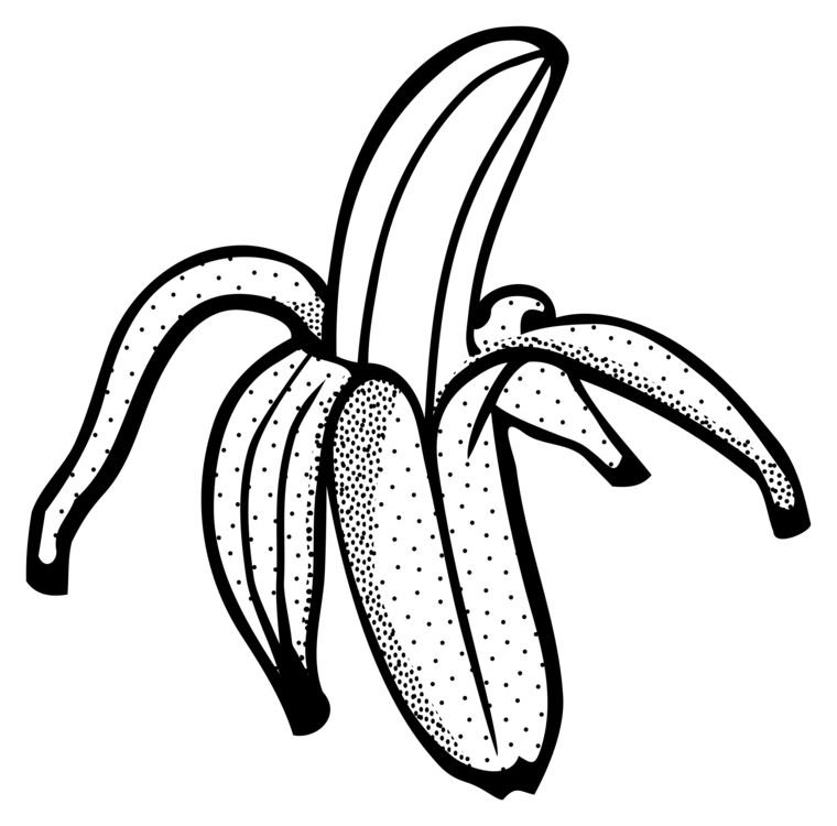 Banana Coloring Book Transparent Clipart Free Download