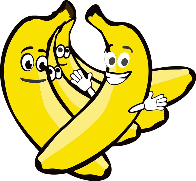 Monkeys eating bananas clipart png. Banana with face