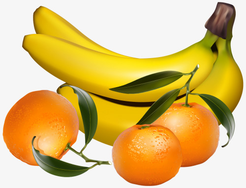 Banana clipart orange. Fresh and delicious png