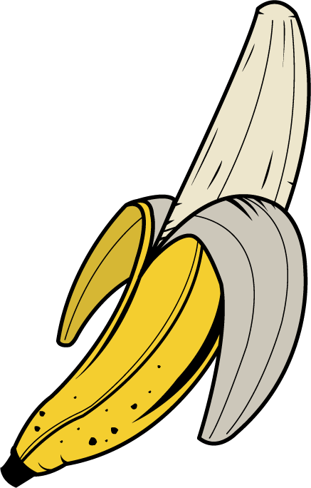 Free images download clip. Vector banana free download