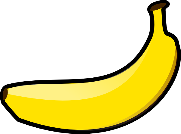 Banana cartoon drawing at. Banan clip claw jpg library library