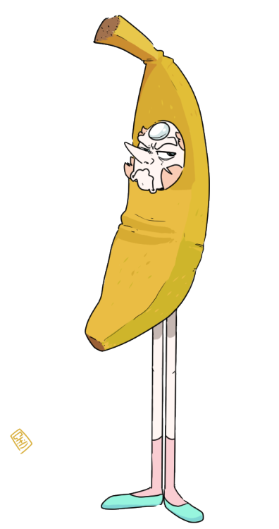Banana clipart toon. Pearl with a grumpy