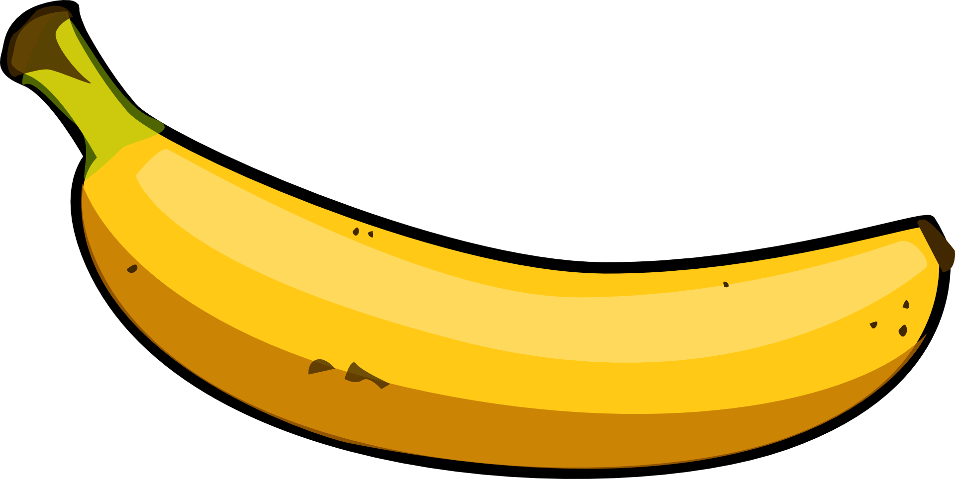 Banana png images transparent. Banan clip black and white library