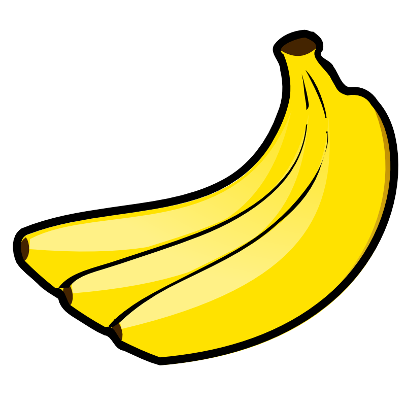 Banana clipart yellow object. Free images download clip