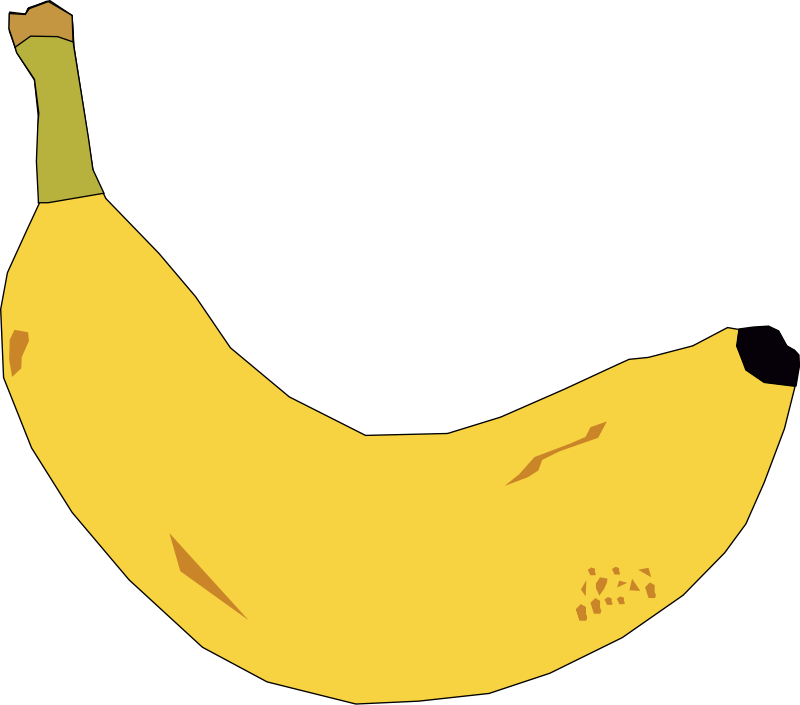 Banana clipart yellow object. Free pictures of download
