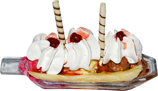 Banana split png. Index of images delicias