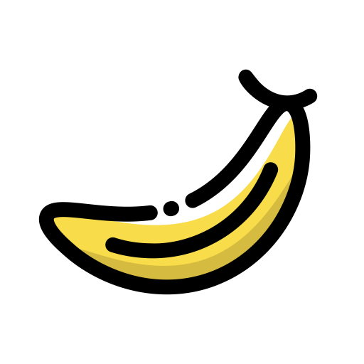 Banana svg bunch. Food icon with png