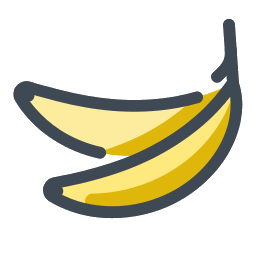 Banana svg doodle. Sweet icon free download