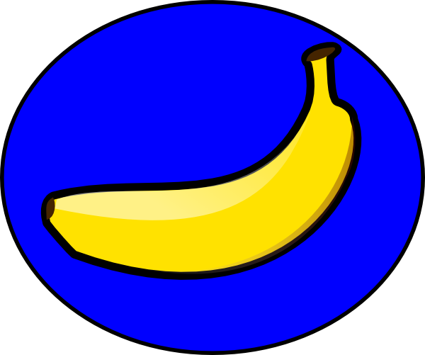 Blue banana. Svg clip arts x