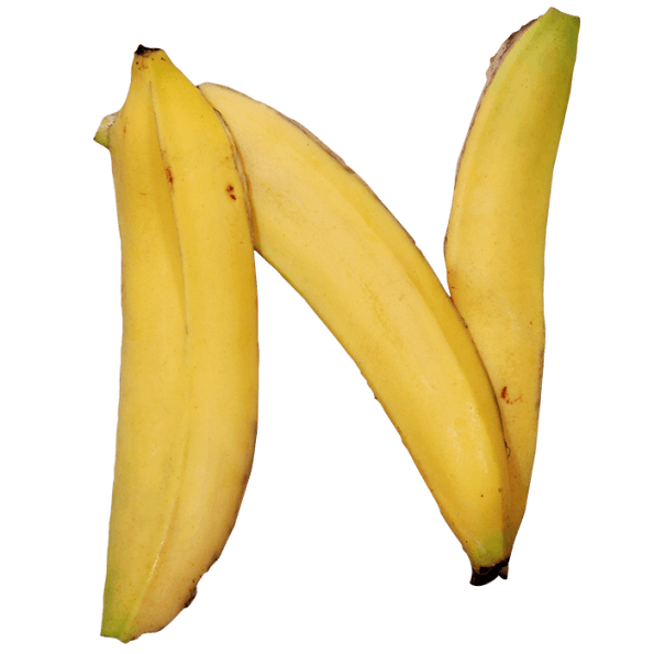 Bananas png and price. Banana font beware of