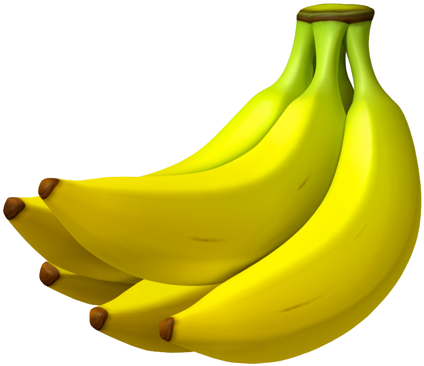 bananas transparent mario kart