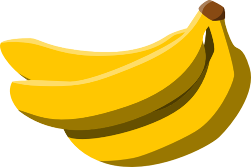 Bananas transparent upright. Two png images pluspng