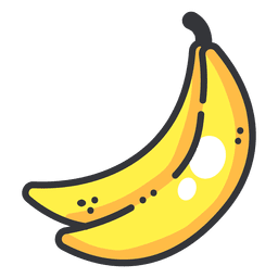 Banana svg doodle. Red apple icon fruit