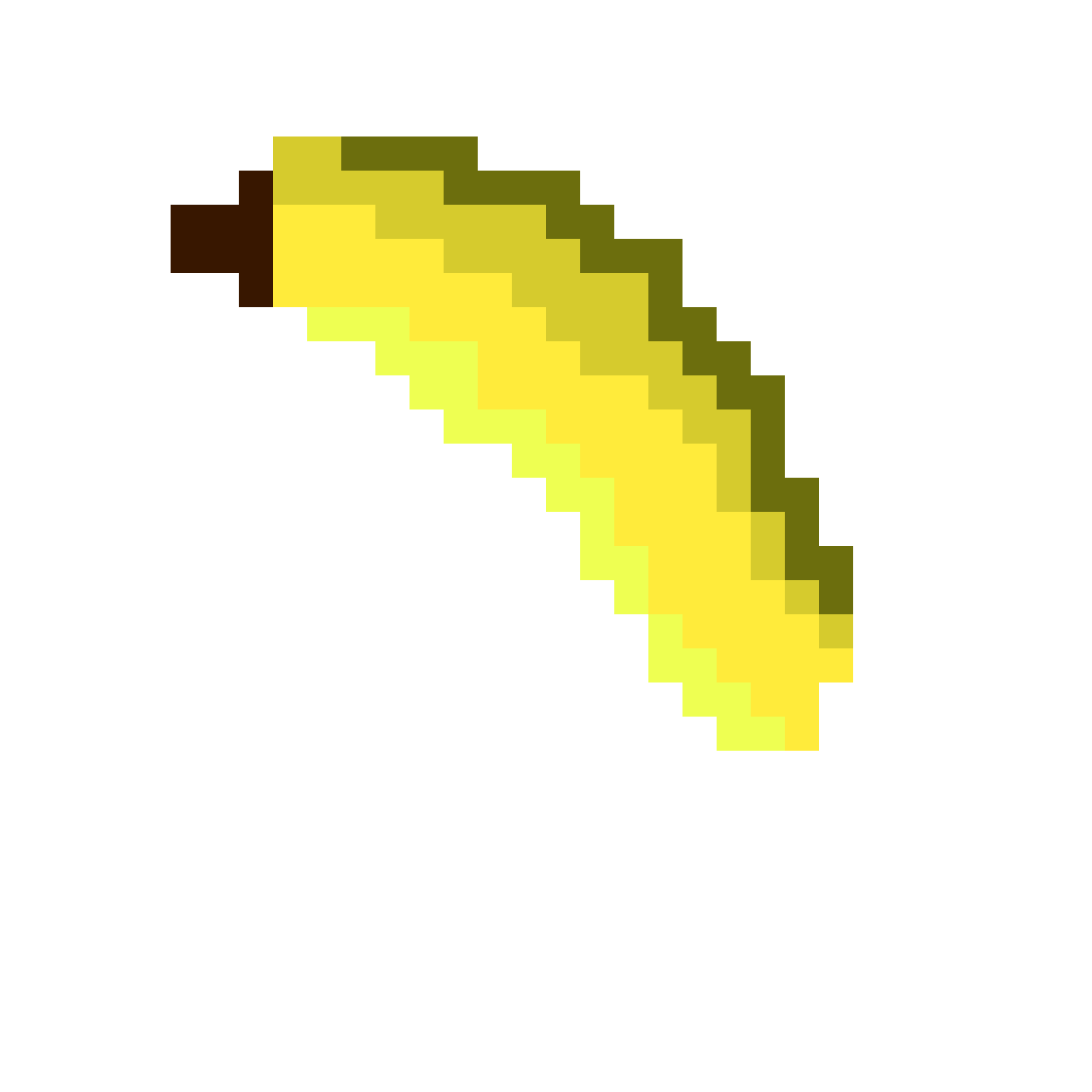 Bananas transparent pixelated. Pixilart banana by xrainydayx