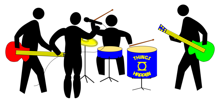 Band clipart. Marching musical ensemble drum