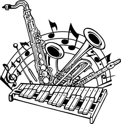 Band clipart. Marching clip art free