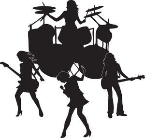 Band clipart. Rock